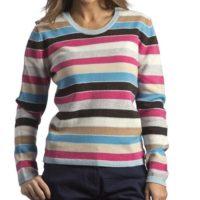 Jersey de rayas para mujer Hawick Knitwear