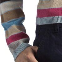 Jersey de rayas para mujer Hawick Knitwear_manga