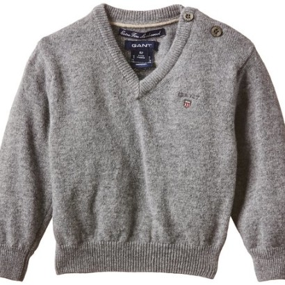 Jersey gris para niños Gant Boy LT