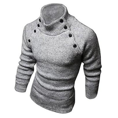 Jersey para hombre de cuello alto Sodial Gris