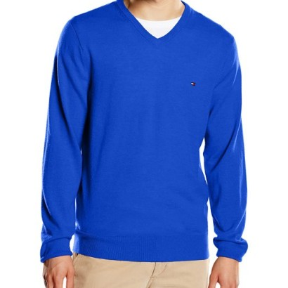 Jersey para hombre Lambswool Tommy Hilfiger_azul