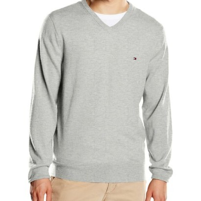 Jersey para hombre Lambswool Tommy Hilfiger_gris