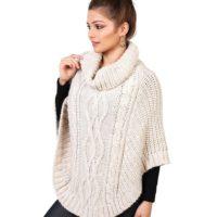 Poncho de lana para mujer Krisp