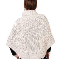 Poncho de lana para mujer Krisp_espalda