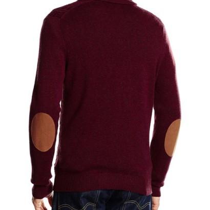 Jersey de lana Pedro del Hierro Shawl Aranes_rojoespalda