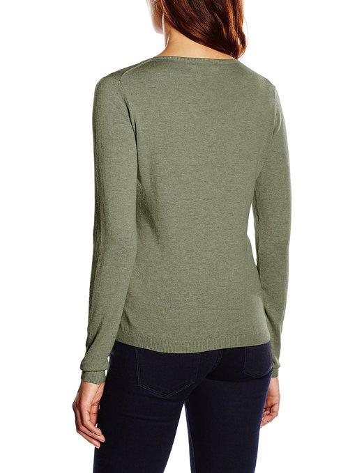 Jersey para mujer cuello de pico GANT COTTON WOOL_espalda
