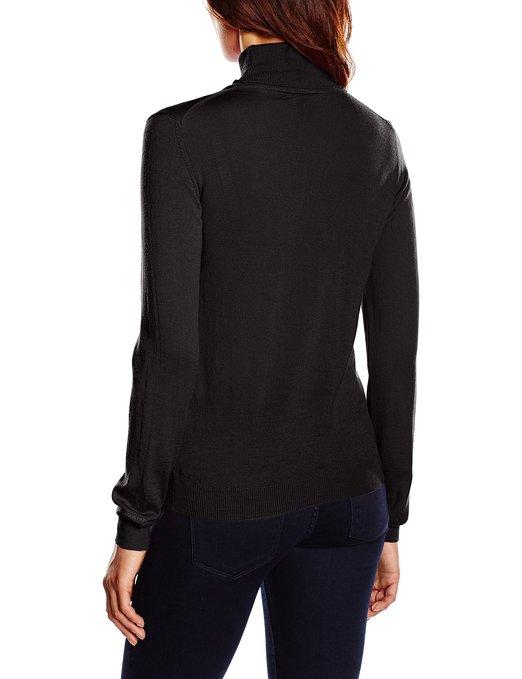 Jersey de lana merina para mujer GANT_negro_espalda