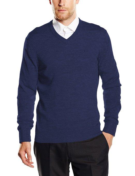 Jersey para hombre Dockers Merino V Neck_azul