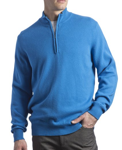 Jersey de lana hombre Great and British Knitwear_azul