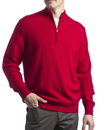 Jersey de lana hombre Great and British Knitwear_rojo