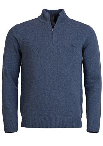 Jersey de lana hombre cremallera Mr Blue